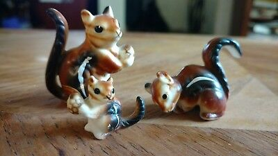 Vintage lot bone china squirrel chipmunk animal figurines wildlife rodent
