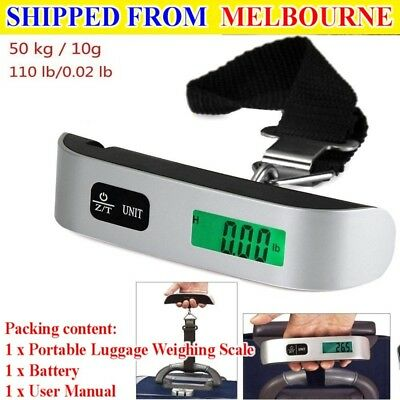 50kg10g Portable LCD Digital Hanging Luggage Scale Travel Electronic Weight