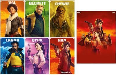 SOLO POSTER SERIES COMPLETE SET OF 6 + MELD AWARD  Topps Star Wars Digital