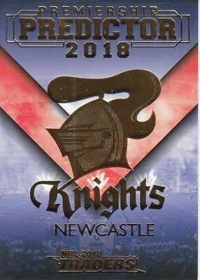 2018 Nrl Traders Premiership Predictor Trading Card - Pp8 Newcastle Knights #140