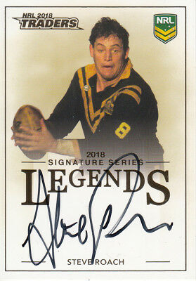 2018 Nrl Traders Legends Signature Card - L12 Steve Roach Balmain Tigers #181