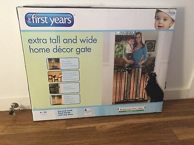 BLK 91cm Tall/71-122cm Wide Baby Door Gate/Pet Dog Stair Barrier/Safety Security