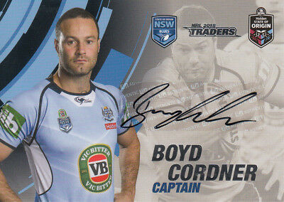 2018 NRL TRADERS SOO SIGNATURE CASE CARD CC3 BOYD CORDNER NSW ORIGIN #037 of 100