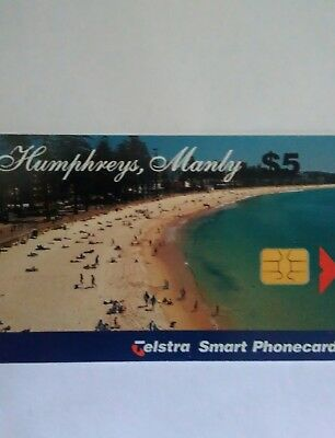 $5 used chip phonecard Humphreys Manly 98005154P