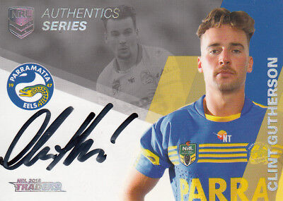 2018 Nrl Traders Authentics Signature  As10 Clint Gutherson Parramatta Eels #028