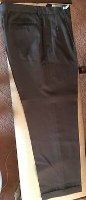 Mens Oxford Charcoal Wool Dress Suit Pants Sz 34 - As New Condition