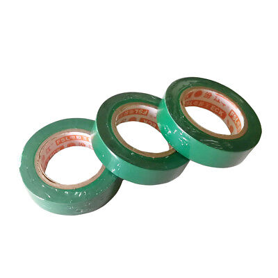 3 Pcs 0.15mm 17mm x 15m PVC Flame Retardant Electrical Tape Home Tool Green