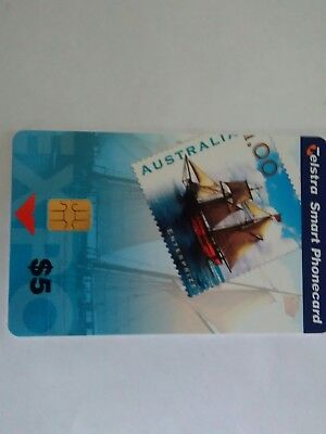 $5 used chip phonecard World Stamp Expo 99005001P