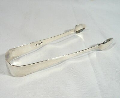 Antique 1799 GEORGIAN Sugar TONGS Sterling Silver W.W  Exeter William Welch Sr.