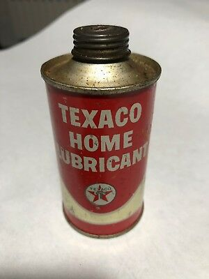 vintage texaco home lubricant can