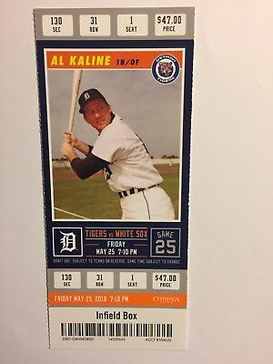 Detroit Tigers Vs Chicago White Sox  May 25, 2018 Ticket Stub