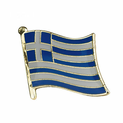 GREECE FLAG Enamel Pin Badge Lapel Brooch Fashion Gift Jewellery Greek PN22