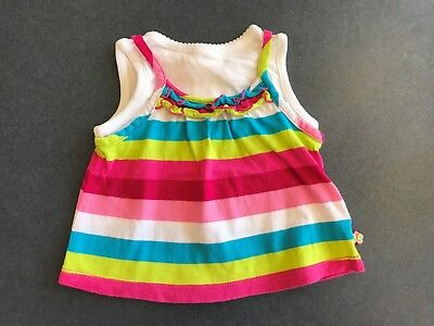 Baby Girls Coloured Striped Top by Place Size 0 - 3 months
