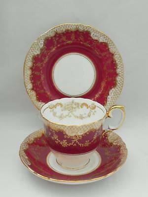 *CROWN STAFFORDSHIRE* Bone China - Stunning TRIO A15098 - Excellent