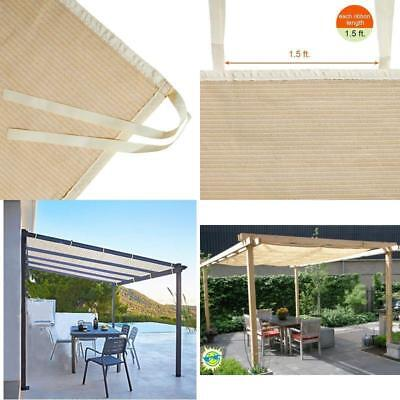 Pergola Roll Up Outdoor Porch Shades Patio Blinds Deck Sun Screen Canopy  12X10Ft - PERGOLA ROLL UP Outdoor Porch Shades Patio Blinds Deck Sun Screen