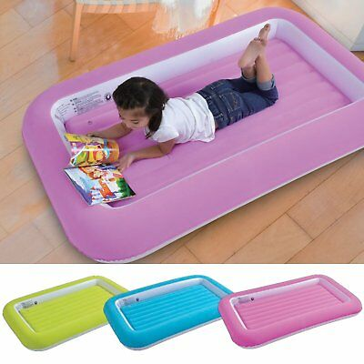 Kids Inflatable Safety Flocked Children Air Bed Toddlers Camping Kiddy Air Beds