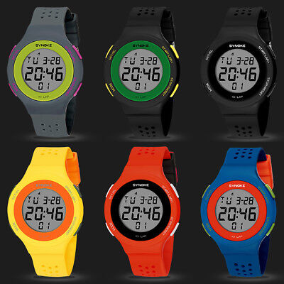Fashion Sport Men Women Waterproof Alarm Date Stopwatch Digital Wrist Watch Chic