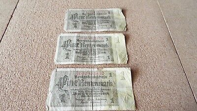 LOT OF 3~1937 German bank notes