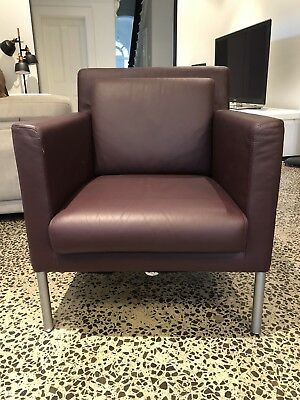 Wolsdorf Leather Office Single Seater Couch