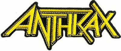 Anthrax - Yellow Iron On Patch