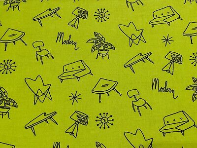 ✨Michael Miller MODERN HOME Mid Century Modern Retro Atomic Fabric - Eames RARE