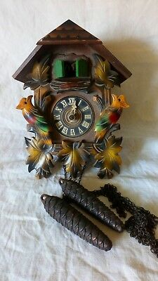 August Scrwer Cuckoo Clock For Spares Or Repair