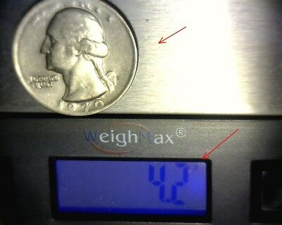 "1970 D Washington Quarter Struck on a ""DIME STOCK"" 4.2 g >>RARE<< US  Error Coin"