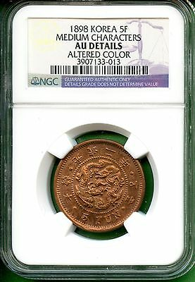 Korea   1898  5 Fun  Year 2     Ngc Au Details   Medium Characters