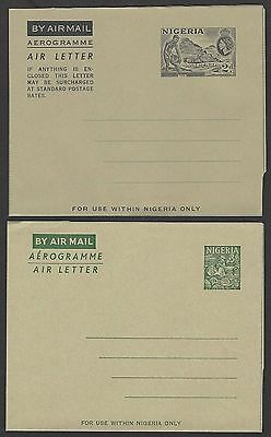 Nigeria collection of aerogrammes unused (4)