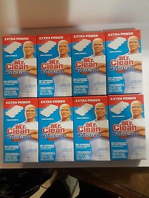 New Mr Clean Magic Eraser Extra Power 8 ct individual box. 50% more Durable