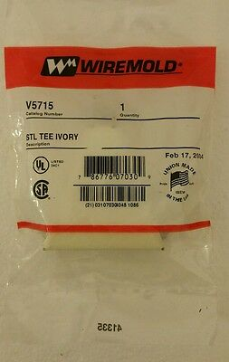 Wiremold V5715 Ivory Steel  Raceway Tee For Right Angle Branches Tee