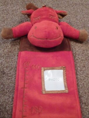 Personalised Embroidered Red Cow Height/Growth Chart