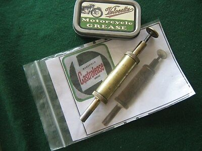 Velocette Vintage Motorcycle Wakefield Castrol  Grease Gun   And Recharge