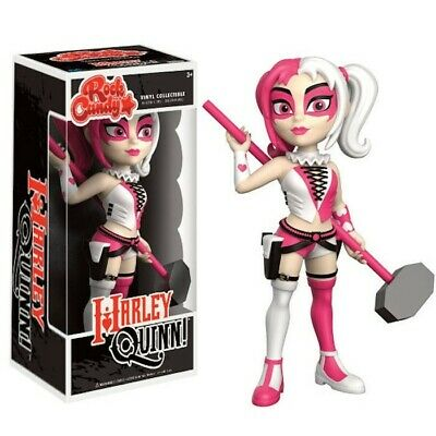 Funko Rock Candy Dc Comics Harley Quinn Pink And White Vinyl Figure New!