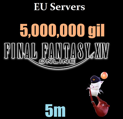 EU Server: 5 Million GIL (Final Fantasy XIV- Most EU Worlds) FFXIV 5000K 5M