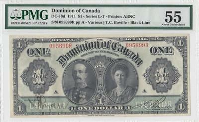 1911 Dominion Of Canada $1 **earl & Countess** (( Pmg 55 ))