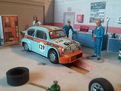 SCX Fiat Abarth 1000 TCR  Slotcar Gulf 1:32 wie Fly Ninco Slot.it NSR