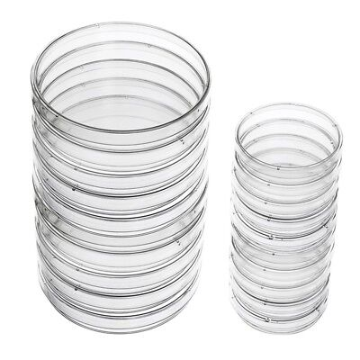 Plastic Petri Dish Sterile Dishes with Lid, 100 mm and 60 mm, 20 Pcs H3M3