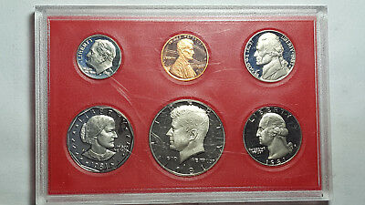 RARE 1981-S US MINT PROOF SET TYPE 2 Clear & Flat 'S' Deep Cameo w/Original Box