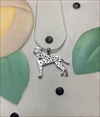 Dalmatian Sterling Silver Charm Necklace - New - FREE SHIPPING