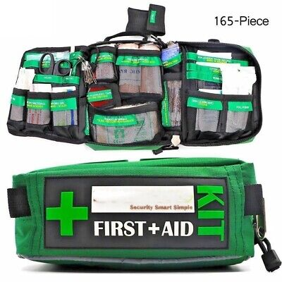 BearHoHo Handy First Aid Kit Bag 165-Piece Emergency Rescue Outdoors Car Hiking