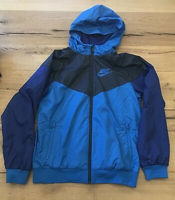 Nike Sportswear Windrunner Jacket Boys Large Blue/Navy New With Tags 850443-465