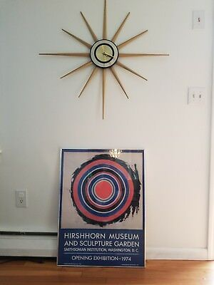 "Hirshhorn museum opening exhibition poster 1974 Kenneth Noland Vintage 32""x24"""