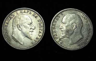 *** Bulgaria 1910 AND 1913 Lev.  World - Foreign Silver Coin.  Free Shipping!