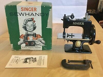 Nice Rare Antique Vintage Singer 20 Sewhandy Toy Childs Small Sewing Machine See