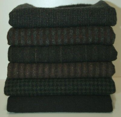 """HAND DYED RUG HOOKING WOOL Mill-Dyed ~ """"FADE TO BLACK-II"""""""