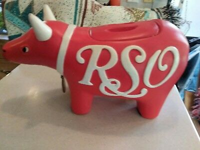 1978 RSO Records Bull Logo Mascot Cookie Jar Eric Clapton  Bee-Gees collectors