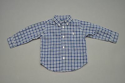 Ralph Lauren Boys Blue Plaid Shirt Size 24 Months