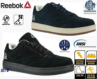 Reebok Steel Toe Boots SLIP OIL Resistant EH Rated Skate Shoes Light Weight