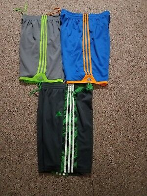 Lot's of 3 Shorts Boy's Adidas With Pocket Size large & Xl